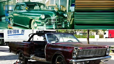 Chrysler Windsor 1949 und Ford Galaxy 500 1965 Convertible